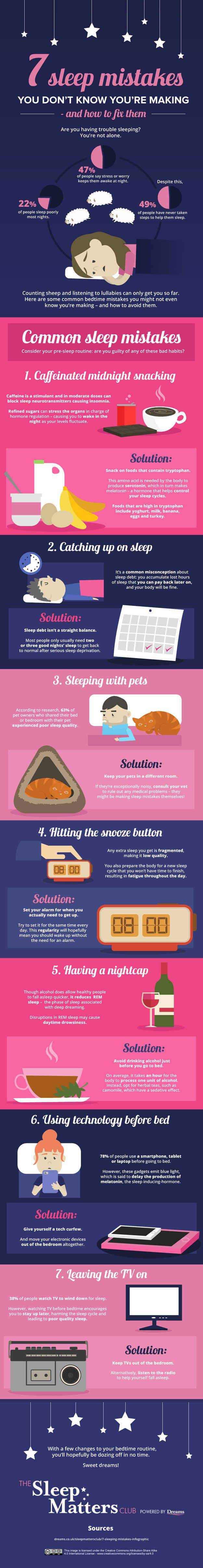 And avoid making these sleep mistakes if getting shut-eye is a problem for you #Infografía #Infographic