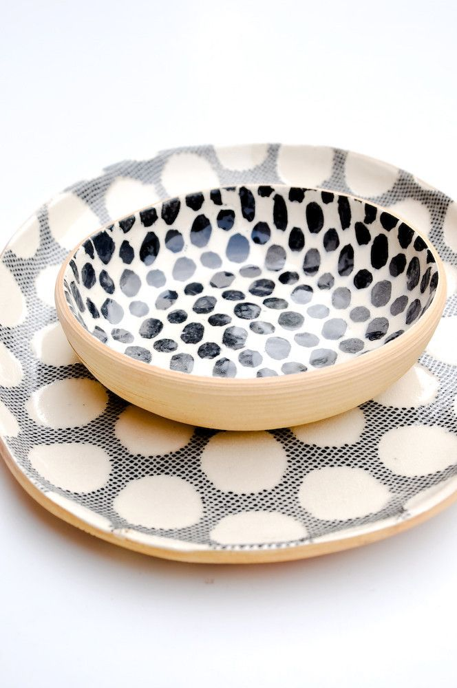 Spotted Serving Set polka dots