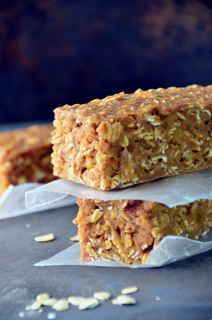 Oatmeal Breakfast Bars| Use oat flour in replace of regular flour