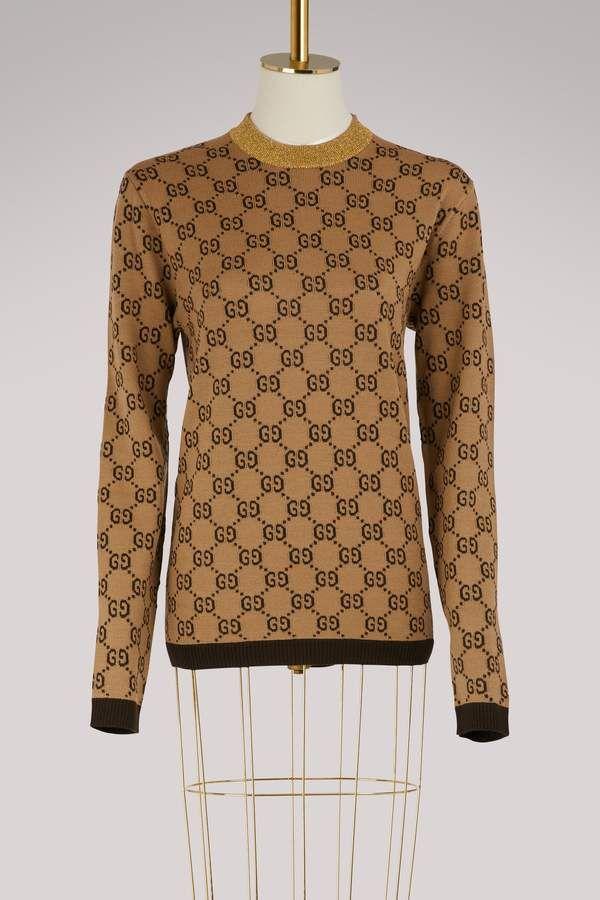 33f7a4a1067 Gucci GG jacquard wool sweater #gucci #sweaters #sweaterweather ...