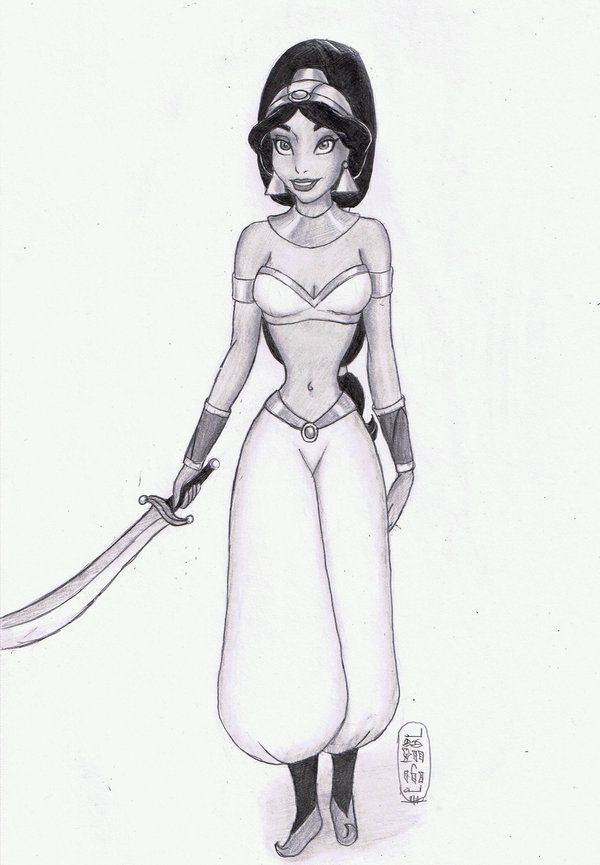"Warrior Princess: Jasmine by MyWorld1.deviantart.com on @deviantART - Sixth in a series showing Disney girls as warriors: Jasmine from ""Aladdin""."