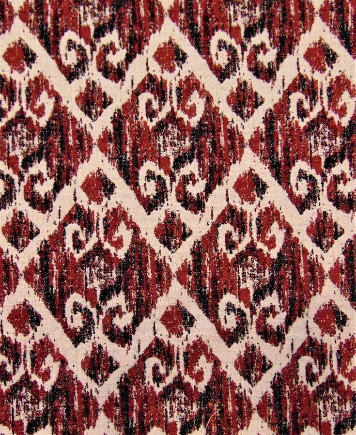 Hilton Crimson Tribal Rustic Primitive Diamond Abstract Sofa Upholstery Fabric  | eBay