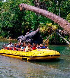 """We loved """"Jurassic Park River Adventure"""" at Islands of Adventure.  Be prepared to get wet!"""