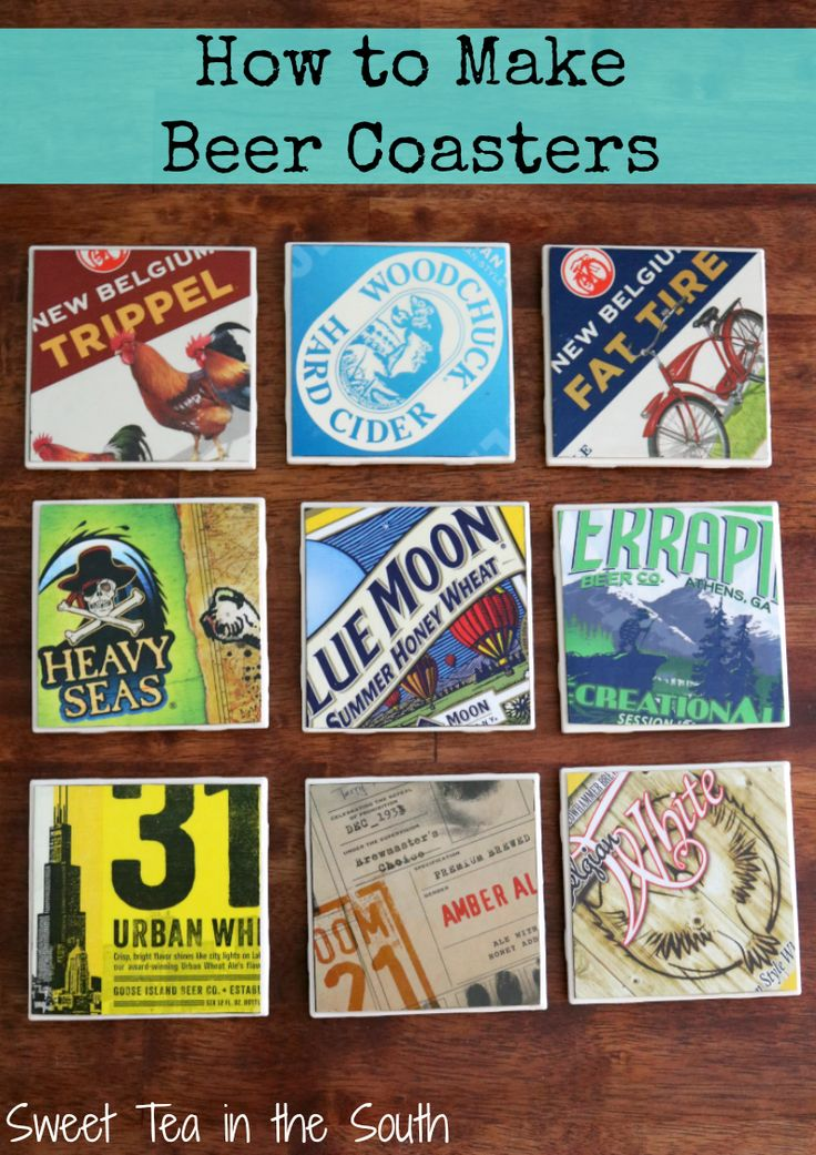 How to Make Beer Coasters--Make great gifts and even guys love them!!