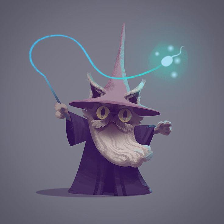 A Friday Catwizard #catwizard #catwizards #wizardcat #characterdesign