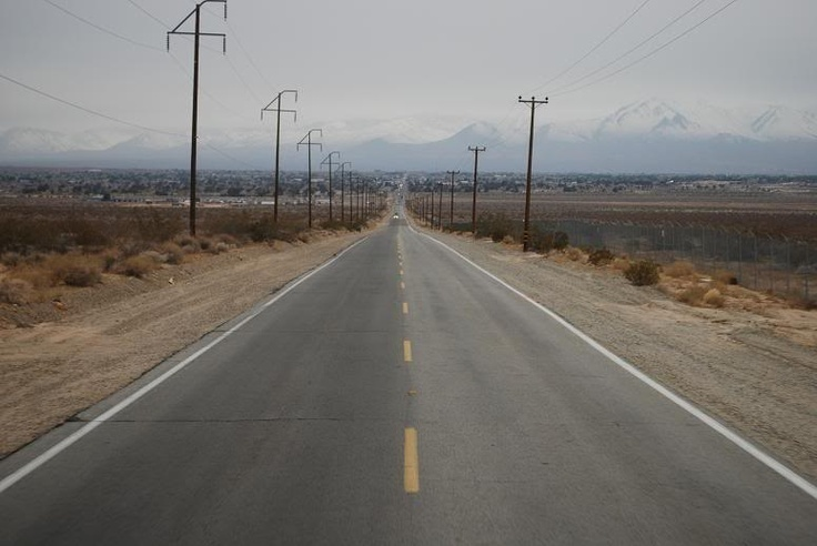 A View Into the Blind Spots of Life: Ridgecrest, California - - Hated driving this road!