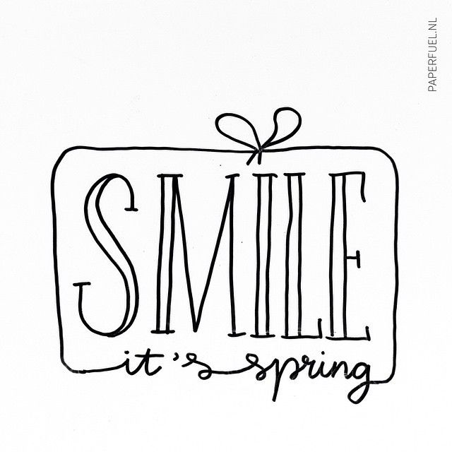 Smile it's spring! #lettering #paperfuel ❥