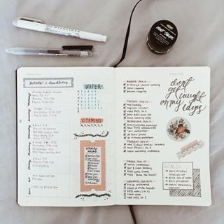 Use washi tape to separate your events, your goals, and your daily tasks. | 23 Bullet Journal Ideas That Are Borderline Genius