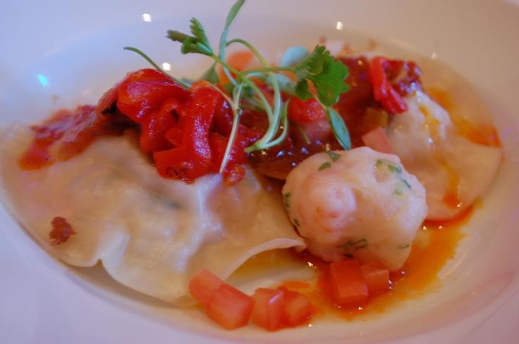 Hunanese Lobster Ravioli, Spicy Hong Kong X0 sauce, Yuzu Butternut  Squash Puree