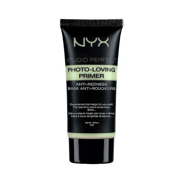 Nyx Studio Perfect Photo Loving Primer (42 BRL) ❤ liked on Polyvore featuring beauty products, makeup, face makeup, makeup primer, beauty, filler, green and nyx
