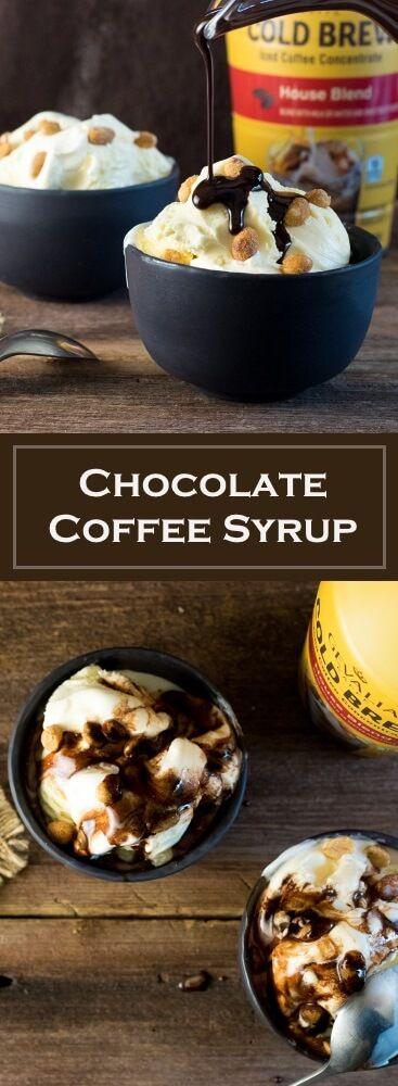 Chocolate Coffee Syrup Recipe via @foxvalleyfoodie