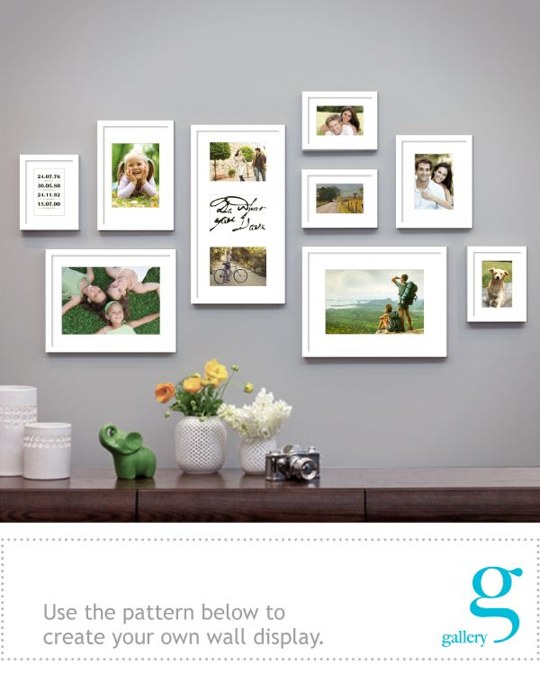Wall Gallery White -clean look with bright family pics