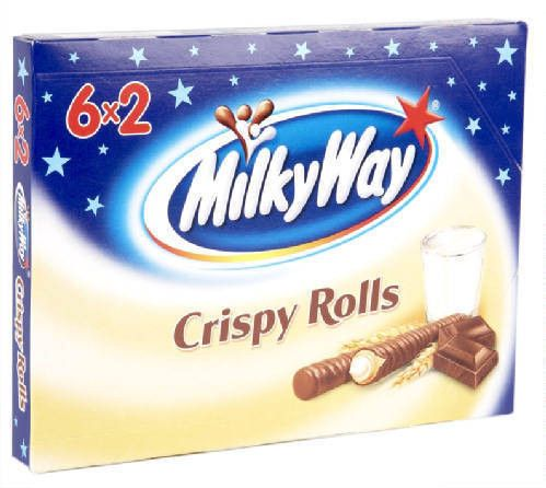 -in USA- Milky Way CRISPY ROLLS 6 x 2 - Made in Germany
