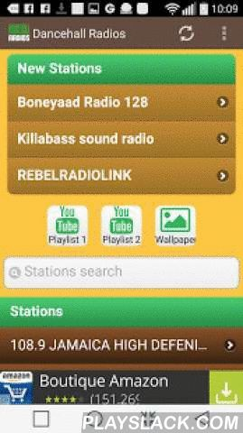 """Dancehall Radios  Android App - playslack.com , Listen Dancehall music on your smartphone or Android tablet with the best free Internet radio stations selected by us.Dancehall is of Jamaican origin, arising directly reggae. It derives its name from the English dancehall (""""dance hall"""" or """"ballroom"""" in French), which means the place where you can dance inside or outside. The dancehall was born in Jamaica in the early 1980s (where it merges with the rub-a-dub to the disappearance of the latter…"""