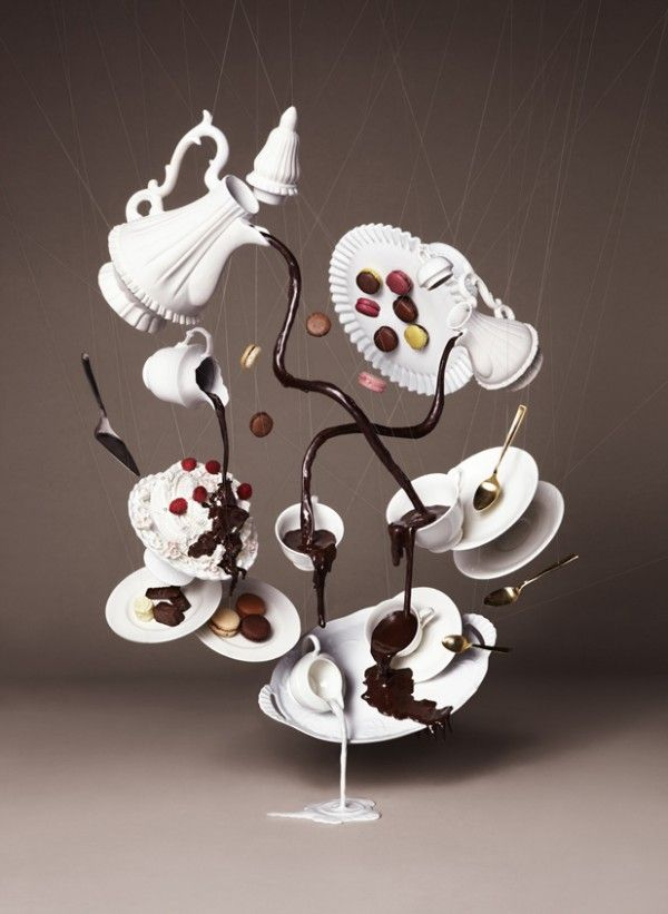 Gravity Defying Photography Chocolate Trail by art/design collective NAM.