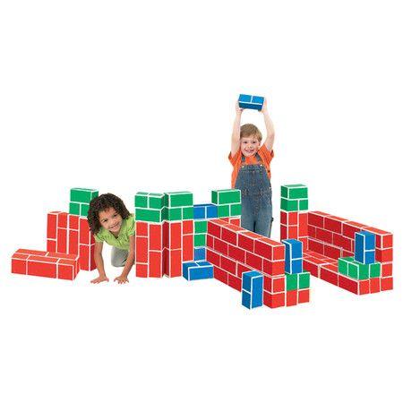 Found it at Wayfair - PlayBrix Cardboard Building Blocks