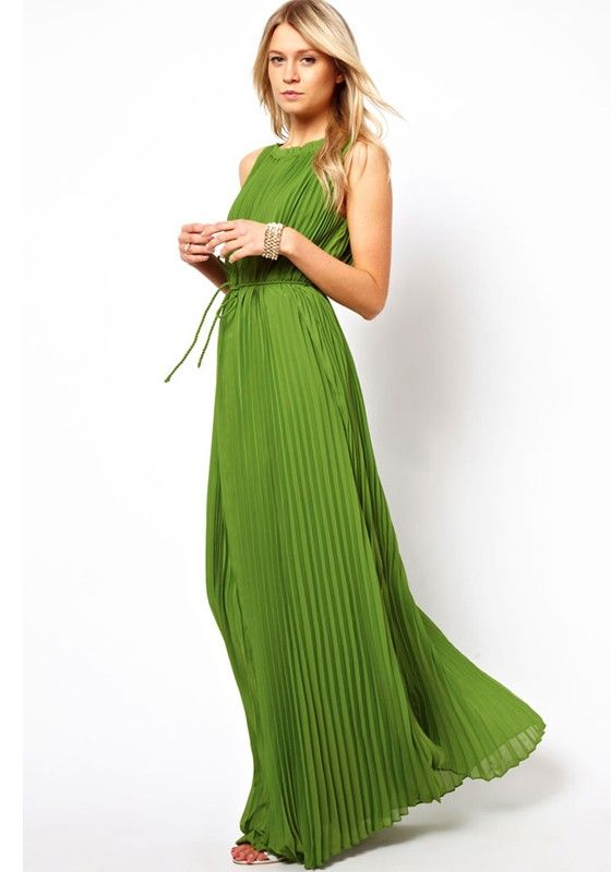 ++ pleated maxi dress