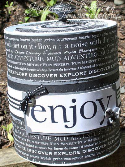 27 best crafty paint cans images on pinterest paint for Empty paint cans lowes