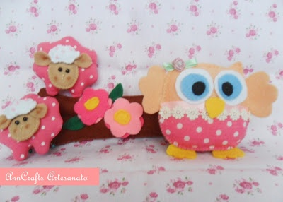Handmade Owl and little lambs.. :)
