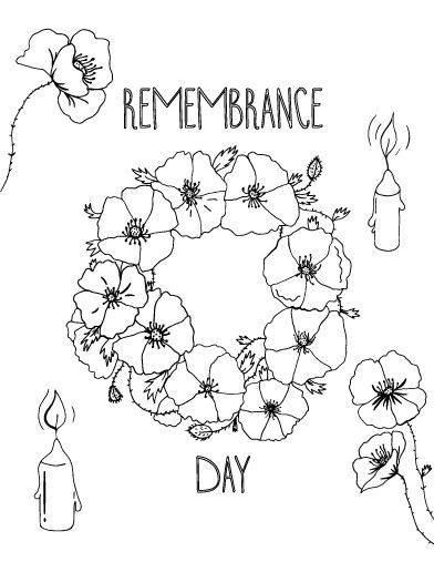 free remembrance day coloring pages - photo#8