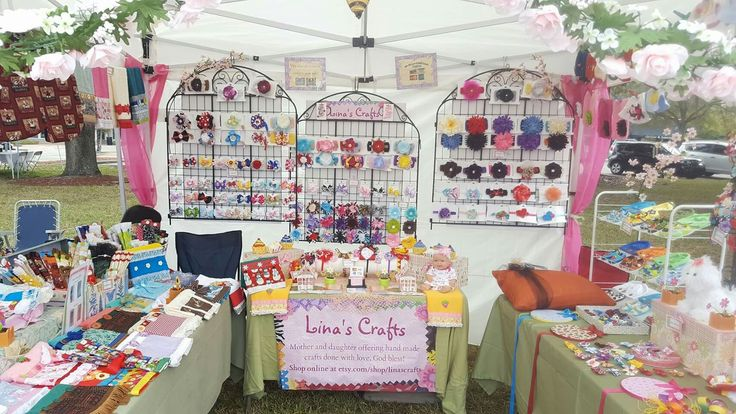 @linascrafts craft show booth in Winter Haven, FL.