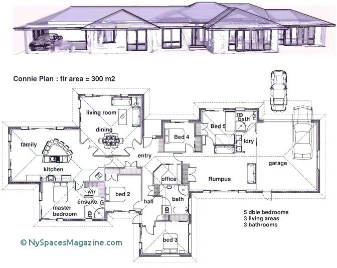 Plan For 5 Bedroom Bungalow Four Bedroom Bungalow House Plans 4