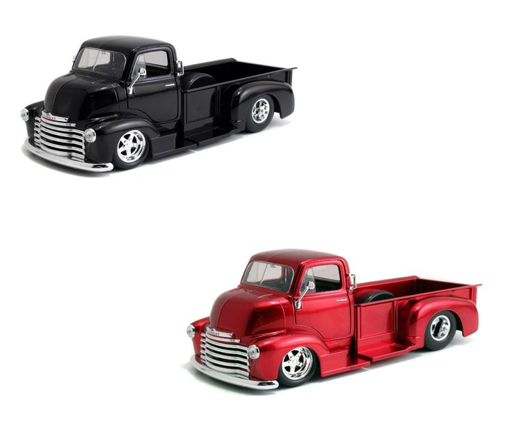 Chevy Truck Wheels >> Diecast Auto World - Jada 1/24 Scale Set Of 2 1952 Chevy COE Pick Up Truck Chrome Wheels Diecast ...