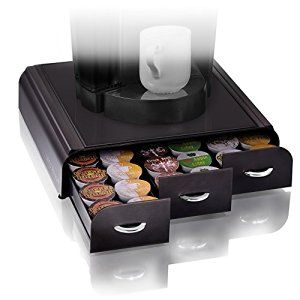 Amazon.com: Mind Reader 'Anchor' Triple Drawer single serve coffee pod holder with free milk frother included, Black: Kitchen Storage And Organization Product Accessories: Kitchen & Dining