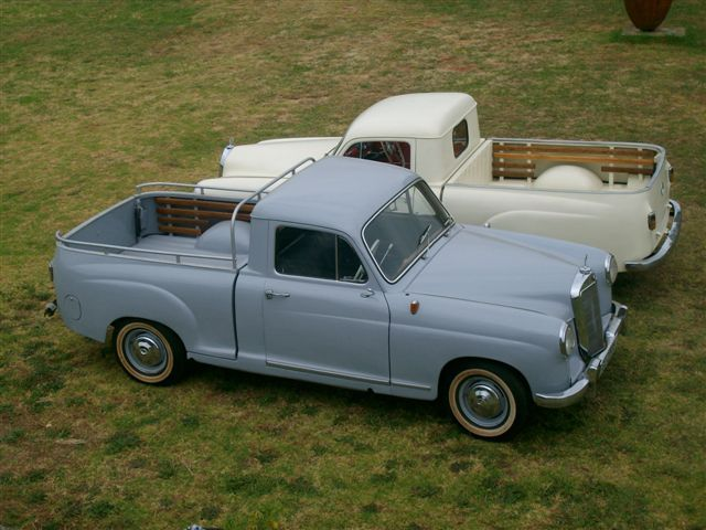 Mercedes-Benz Pontonbakkie 1956,,,,,,holy grail of pontons , 14 known of & 10 restoration projects. Francois Perold nikarli@vodamail.co.za