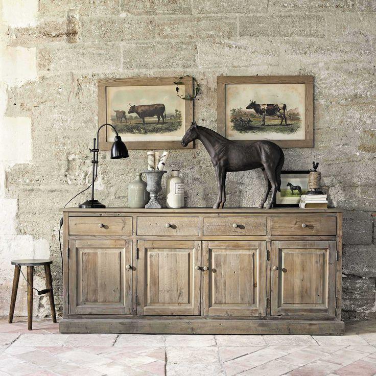 Buffet en bois recyclé L 195 cm Pauillac | Maisons du Monde