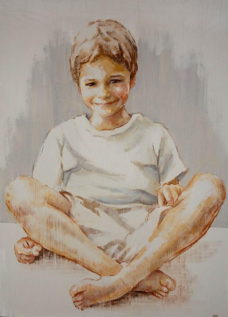 niño retrato 50 x 70-  M. Isabel Barros Alcalde