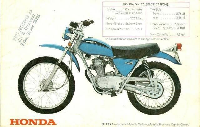 1973- Honda XL125 Brochure