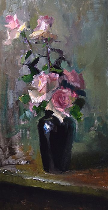 The Very Thought of You by Kelli Folsom Oil ~ 24 x 12