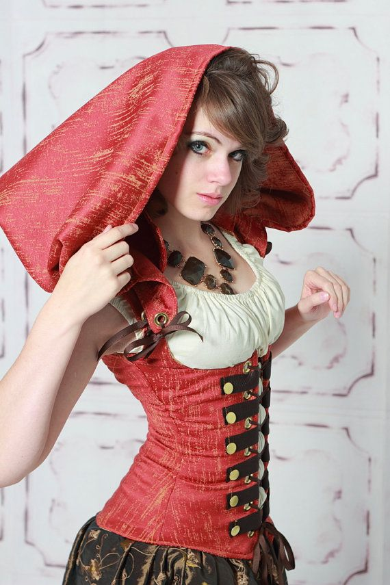 LAST ONESALEWaist 37 to 39 Steampunk Red by damselinthisdress