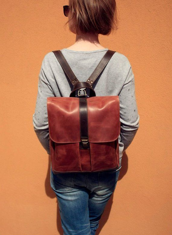 9166acd5ec Leather backpack leather backpack woman vintage leather