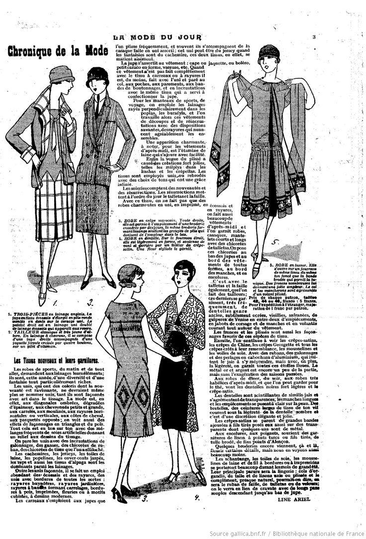 La Mode du jour | 1926-04-29 | Gallica