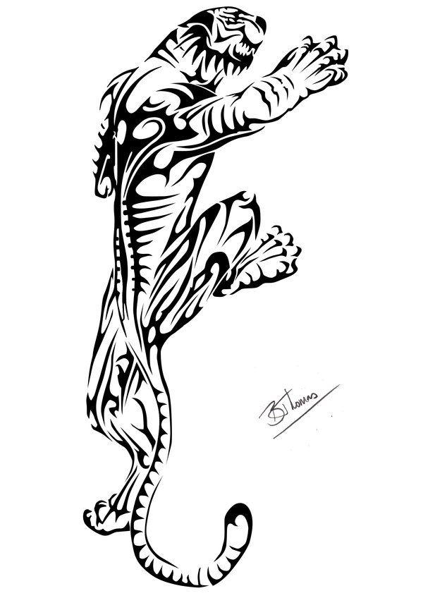 Tribal Tiger design by Badgeal on DeviantArt