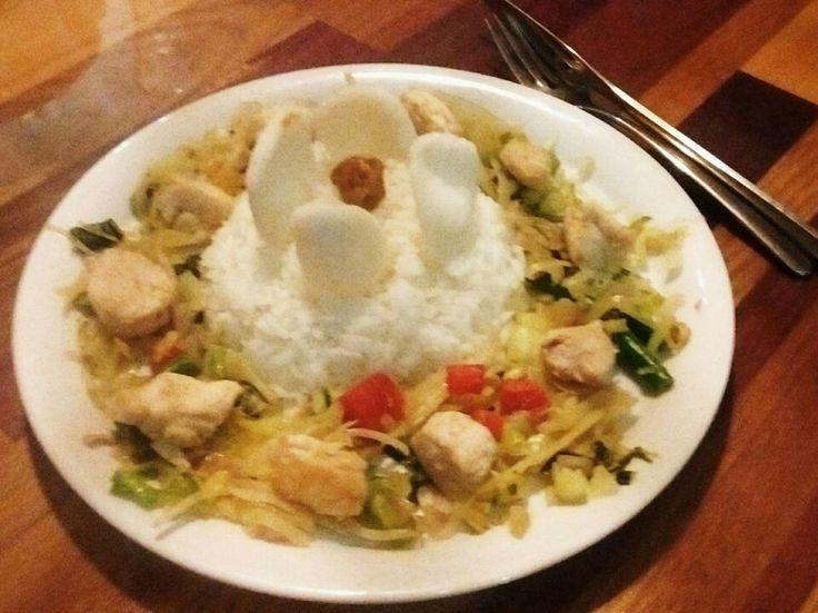 Riz, poulet, poêlé de légumes #healthy