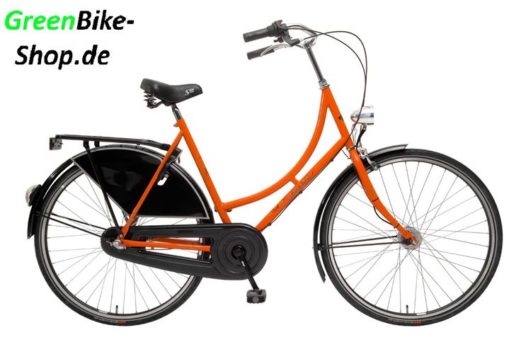 Greens Hollandfahrrad in Schwarz Orange
