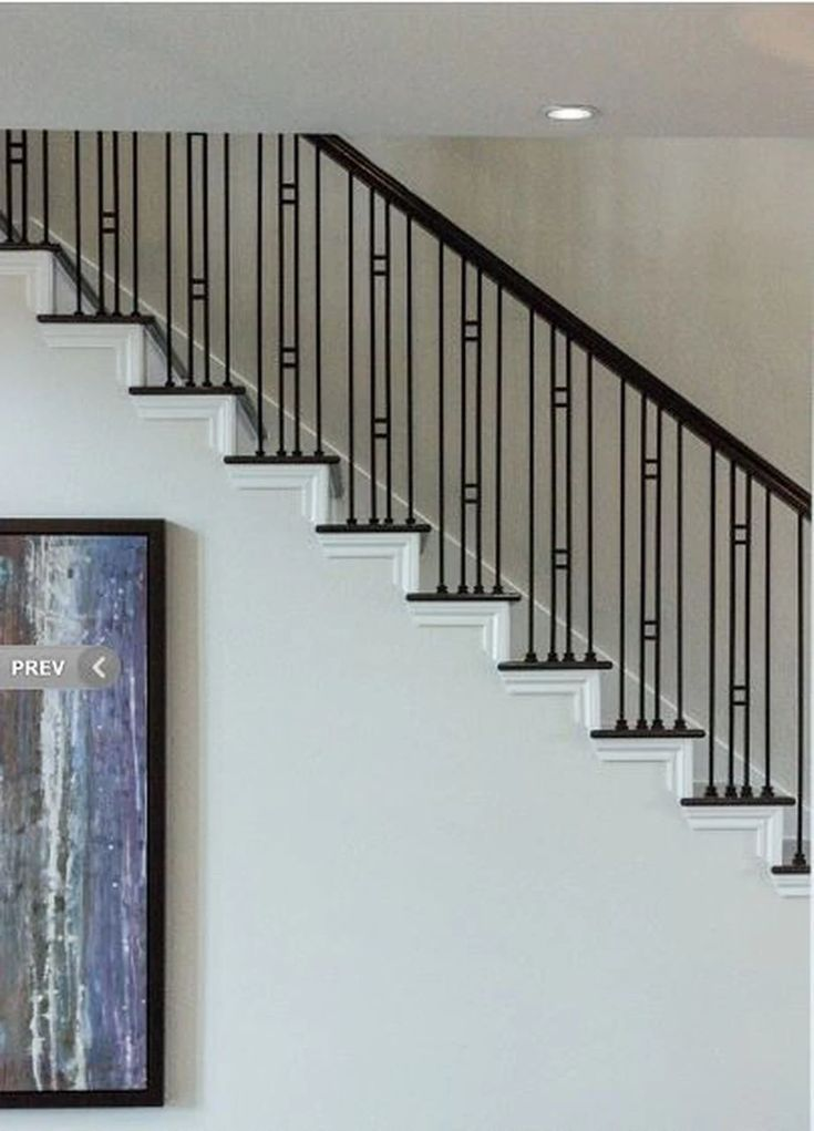 Hf16 6 1 Small Double Square Hollow Baluster Stair Railing