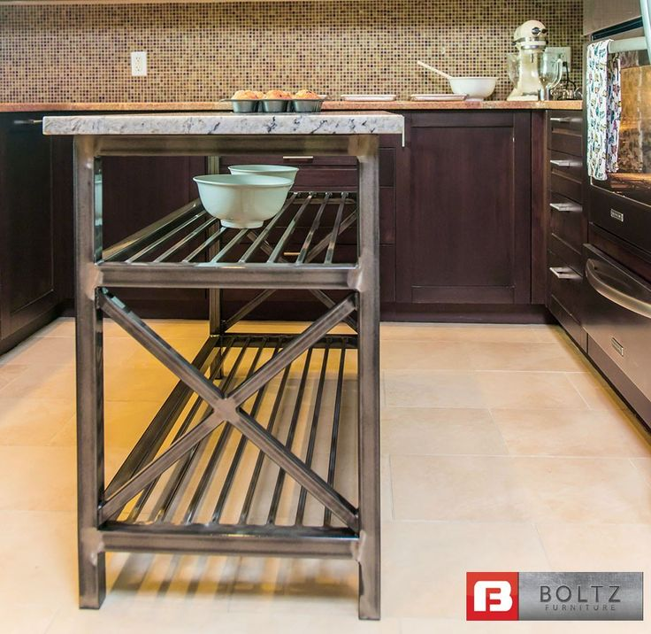 Chef-X Kitchen Island Cart by | Kitchen & Dining | Boltz Steel Furniture