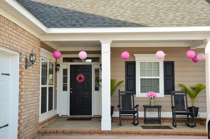 Cute front porch for our house someday pinterest for Cute front porches