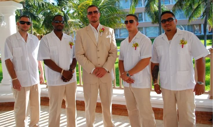 beach wedding attire for groom and groomsmen | VGirl's Wedding Review ~ Moon Palace Resort, Cancun Mexico~ April 24 ...