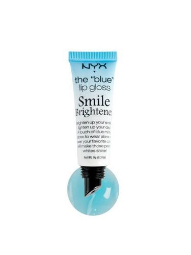 This clear gloss warms up when you apply it, turning into a pinkish-reddish hue with a blue undertone that magically makes your teeth appear whiter. Get it from the NYX website for $4.50.: