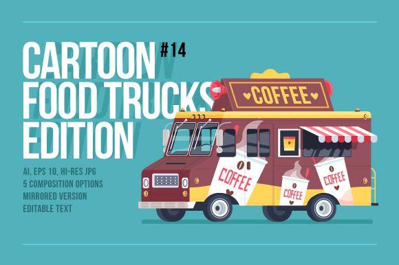 Cartoon Food Truck - Coffee by painterr on @creativemarket
