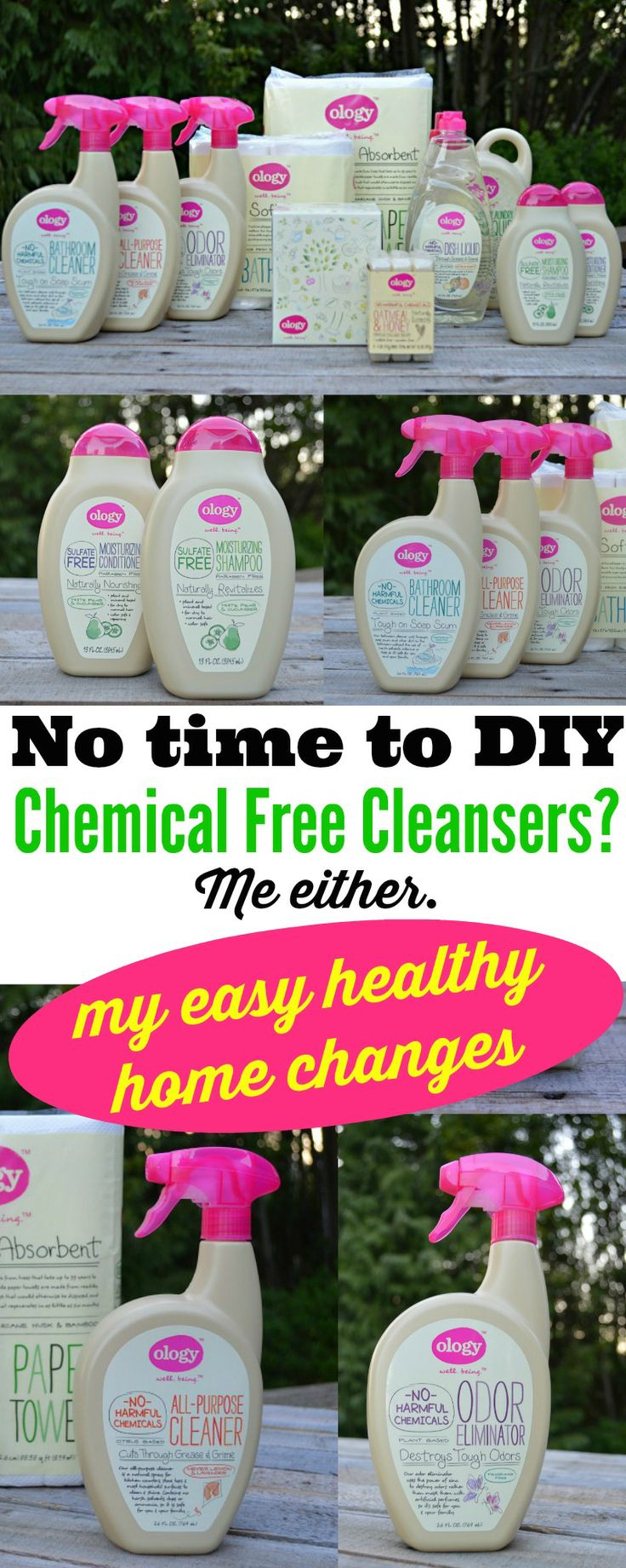 It's easy to clean Chemical Free - No diy required with #walgreensology ready made cleansers. Guilt free cleaning for a healthy home. #shop