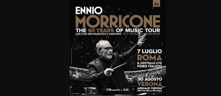 Ennio Morricone dirigerà le sue musiche per il cinema in un concerto a Roma, al Foro Italico, il 7 luglio 2017 e in un concerto all'Arena di Verona, il 30 agosto 2017. Le due date fanno parte della tournée '60 YEARS OF MUSIC WORLD TOUR' e prevedono l'esibizione della leggenda del fado portoghese, Dulce Pontes. …