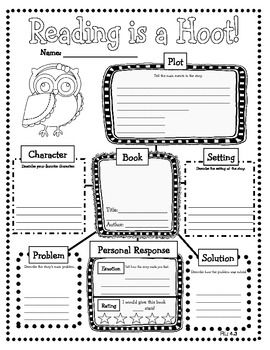 Owl Themed Common Core Reading Literature Graphic Organizers- Great to use with any book!