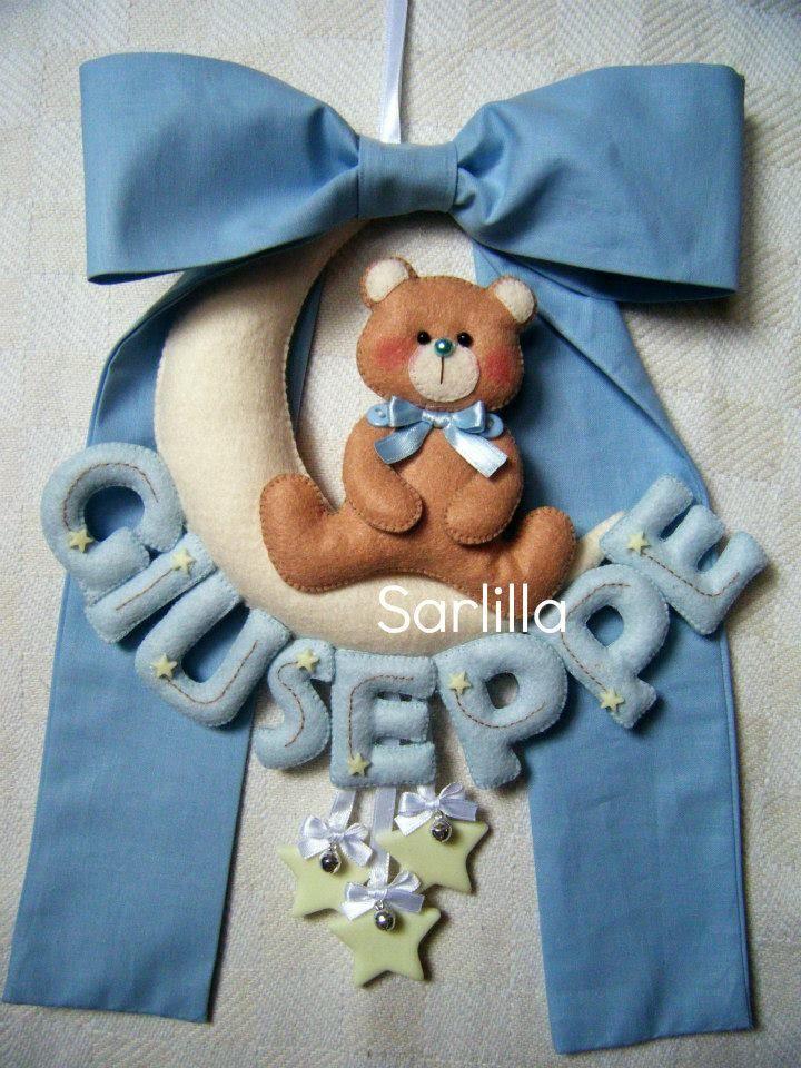 - Il blog di SARLILLA -: Fiocco nascita per Giuseppe