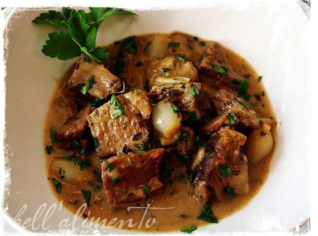 Lamb stew. Looks so good and I wanna try this. Does anyone know what I can substitute the white wine with? I'm Muslim so I do not consume alcohol.